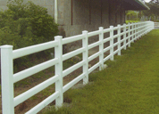 white plastic fences